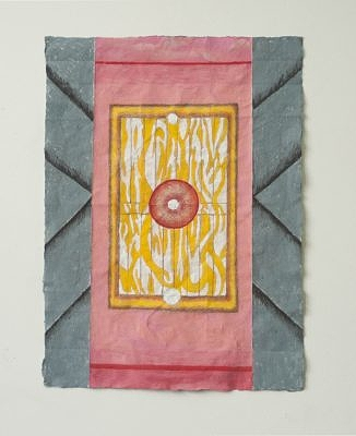 Door, 2015, watercolor, gouache and wax on paper