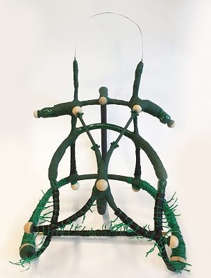 Green Dolly, 24x17x21 inches, mixed media, 2016